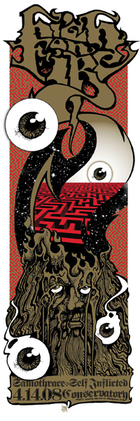 High on Fire poster OKC Mind Melting Maze