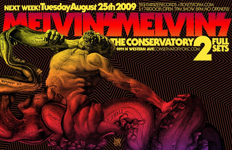 Melvins OKC poster