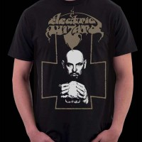 Electric Wizard Logotype and Anton LaVey Shirt 2006 Rise Above Records UK