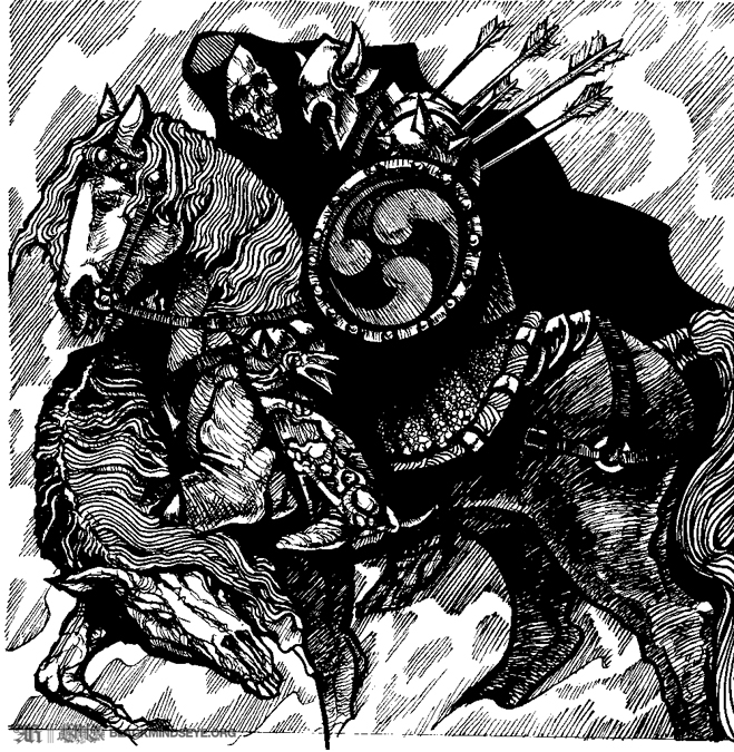 Conan Death & Knight Illustration