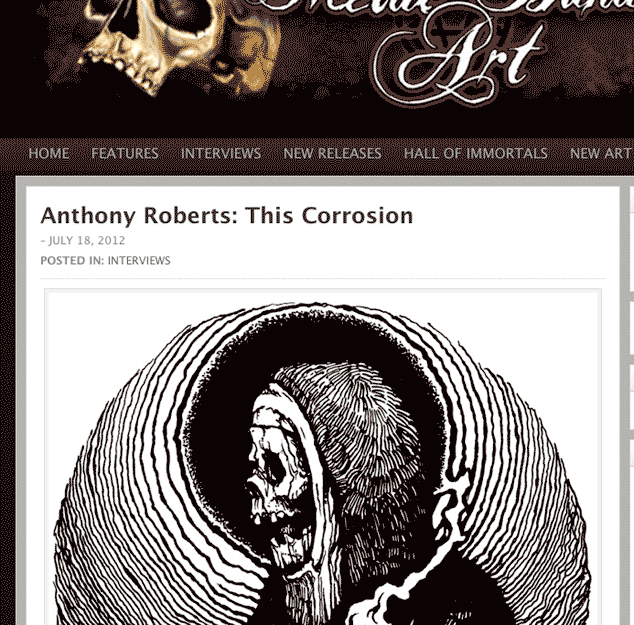 Metal Band Art interrogates Anthony Roberts