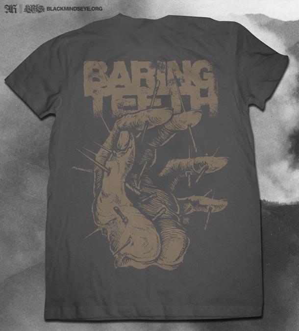 2013 baring teeth shirt mockup